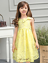 Girl's Yellow Dress,Polyester Summer