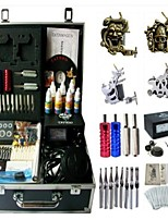 Basekey Tattoo Kit K194 4Guns Machine With Power Supply Grips Cleaning Brush Needles Ink