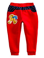 Girl's Red Pants Cotton Spring / Fall