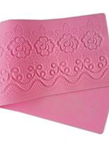 Flower Pattern Lace Mold Rose Silicone Sugar Lace Pad Cake Brim Decoration Mold Kitchenware