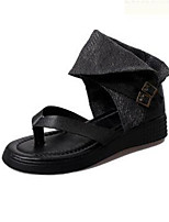 Women's Shoes  Flat Heel Flip Flops Sandals Outdoor / Casual Black
