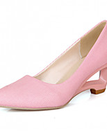 Women's Shoes Leatherette Wedge Heel Heels Heels Office & Career / Dress / Casual Pink / Beige