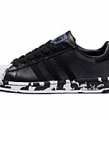 Scarpe da uomo-Sneakers alla moda-Tempo libero / Casual-Di pelle-Nero e bianco