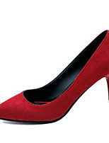 Women's Shoes Fleece Stiletto Heel Heels Heels Wedding / Party & Evening Black / Red / Gray / Leopard