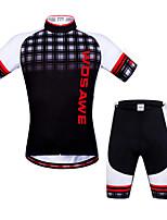 Top / Felpa-Ciclismo-unisex-Maniche corte-Traspirante / Asciugatura rapida / Zip anteriore / Design anatomico / wicking / Pad 3D / Tasca