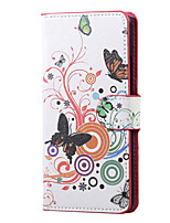 White butterfly Magnetic PU Leather wallet Flip Stand Case cover for Huawei Ascend P9