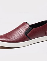 Men's Shoes PU Outdoor / Casual Loafers Outdoor / Casual Flat Heel Black / Blue / Orange / Burgundy