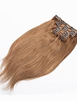 grampo em extensões de cabelo humano loiro grampo de cabelo humano em extensões 70g loura platinada grampo de cabelo humano virgem na
