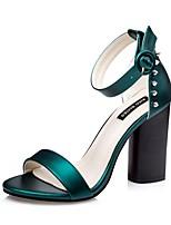 Chaussures Femme-Décontracté-Noir / Vert / Rose / Gris-Talon Aiguille-Talons-Sandales-Soie
