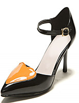 Women's Shoes Leatherette Stiletto Heel Heels Heels Outdoor / Office & Career / Dress Pink / Orange