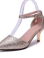 Women's Shoes Leatherette Stiletto Heel Heels Heels Office & Career / Dress / Casual Pink / Red / Silver / Gold