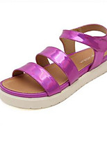 Women's Shoes Denim Wedge Heel Wedges / Open Toe Sandals Outdoor / Casual Pink / Silver