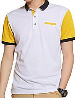 In summer men's T-shirt slim Korean polo shirt half sleeve T-shirt lapel jacket shirt youth tide