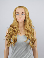 Fashion Synthetic Wigs Lace Front Wigs 28inch Wavy Bleach Blonde Heat Resistant Hair Wigs Women