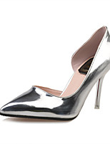 Women's Shoes Stiletto Heel Pointed Toe Heels Office & Career / Dress / Casual Black / Silver