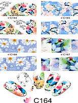 1pcs  Nail Art Water Transfer Stickers Charming Flower Image Design C164-171