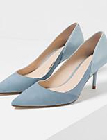 Zapatos de mujer-Tacón Stiletto-Tacones / Puntiagudos / Punta Cerrada-Tacones-Vestido-Ante-Azul / Rosa / Gris / Naranja