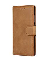 Pour Coque Huawei Portefeuille Porte Carte Avec Support Clapet Dépoli Coque Coque Intégrale Coque Couleur Pleine Dur Cuir PU pour Huawei