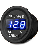 Car Truck Motorcycle DC Voltmeter Voltage Meter Blue LED Digital Display 12-24V