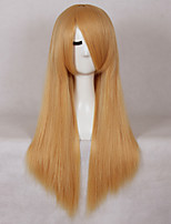 Women's Fashionable Blonde Color Long Length Straight Synthetic Wigs
