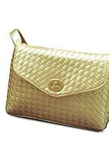 Women PU Sling Bag Shoulder Bag-White / Gold / Black
