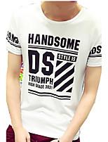 Herren Freizeit T-Shirt - Buchstabe Kurz Baumwolle