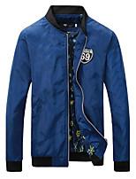 Men's Long Sleeve Jacket,Cotton Casual Print
