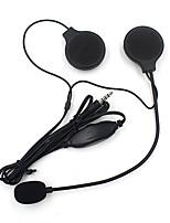 altoparlanti auricolare casco del motociclo stereo con microfono mic mp3 / 4 iphone ipod