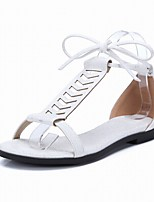 Women's Shoes Flat Heel Round Toe / Open Toe Sandals Office & Career / Dress / Casual Pink / White
