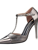Women's Shoes Leatherette Stiletto Heel Heels Heels Casual Black / Red / Silver / Gray / Gold