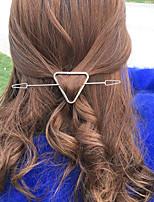 Women Unique Design Simple Vintage Style Fashion Triangle Alloy Hair Stick Hair Accessories
