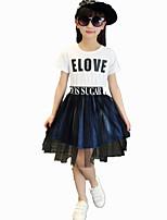 Robe Fille de Coton / Autres Eté Rose / Violet / Blanc