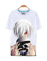 Inspired by Tokyo Ghoul Ken Kaneki Anime Cosplay Costumes Cosplay T-shirt Print Top