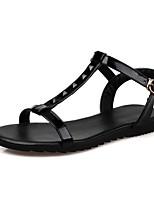 Women's Shoes Synthetic / Leatherette Flat Heel Peep Toe / Slingback SandalsWedding /Party &