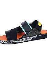 Zapatos de Hombre-Sandalias-Exterior / Oficina y Trabajo / Casual / Deporte / Laboral-Sintético-Negro