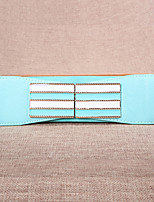 Women Leather Striped Wide Belt,Vintage / Cute / Party / Casual Alloy