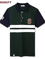 Trenduality® Men's Shirt Collar Short Sleeve T Shirt Dark Green-43058