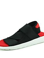 Zapatos de Hombre-Sandalias / Sin Cordones-Exterior / Casual-Tejido-Negro / Azul / Rojo
