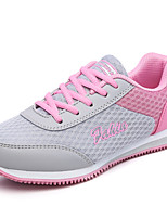 Women's Shoes Breathable Flat Heel Comfort / Novelty Fashion Sneakers Athletic / Casual Blue / Pink