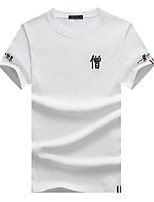Men's Short Sleeve T-Shirt,Cotton Casual Letter