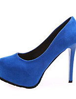 Women's Shoes Fleece Stiletto Heel Heels Heels Wedding / Party & Evening Black / Blue / Red / Gray