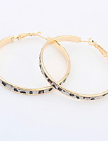 Women Fashion Exaggerated Leopard Hoop Earrings Statement Jewelry