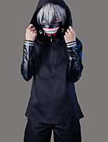 Inspired by Cosplay Cosplay Anime Cosplay Costumes Cosplay Suits Solid Black Long Sleeve Coat Top Pants Shorts Mask For