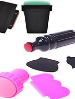3pcs Stamper Scraper  Nail Art Transfer Manicure Tools NA176