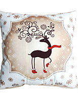 3D Design Print Merry Christmas Deer Decorative Throw Pillow Case Cushion Cover for Sofa Home Decor Soft Material