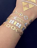 Water Transfer Stickers Metal Temporary Jewelry PVC Bronzing Tattoo Airbrush Tattoo Stencils