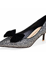 Women's Shoes Fleece Stiletto Heel Heels Heels Casual Black / Silver / Gold