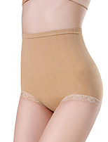 Women Shapewear Panties Lace Trim Belly Hip Control Seamless Underpants Body Shaper Briefs