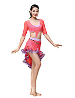 Belly Dance Dresses Women's Training Lace Lace / Ruched 1 Piece Black / Fuchsia / Orange
