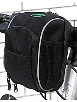 Cycling Bike Panniers Bicycle Bag Handlebar Bag front basket Black with Rain Cover